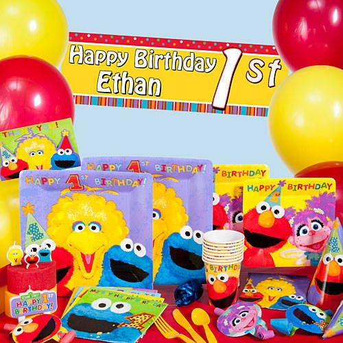 Best 25 cookie monster party supplies ideas on pinterest elmo our sesame street 1st birthday party supplies feature the whole sesame street gang big bird junglespirit Gallery