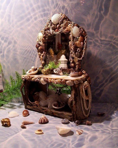 furniture fairy. Fairies Garden, Fairy Gardening, Furniture, Cabin Ideas, Doors, Houses, Craft Projects, Faeries, Forests Furniture