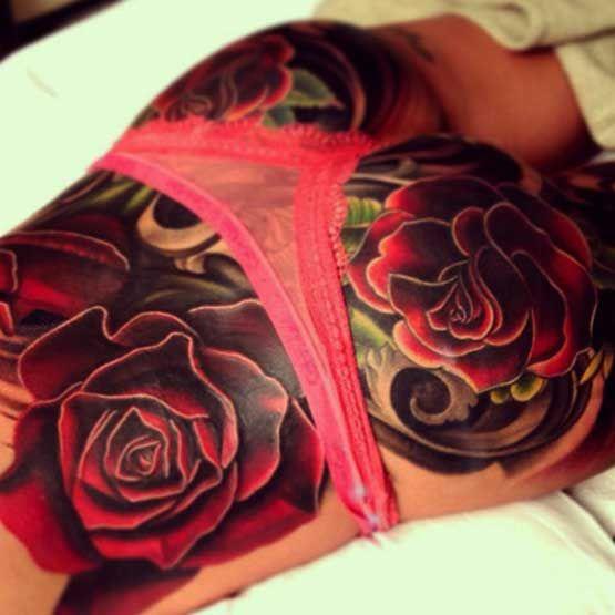 Cheryl Cole's Tattoo On Lower Back | Full Tattoo