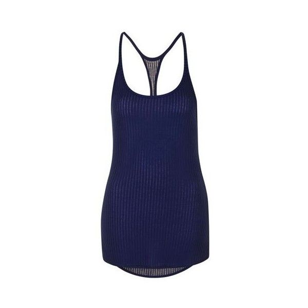 Sheer Ribbed Vest by Ivy Park (69 BRL) ❤ liked on Polyvore featuring outerwear, vests, navy blue, navy blue waistcoat, rib vest, navy blue vest, blue waistcoat and navy vest
