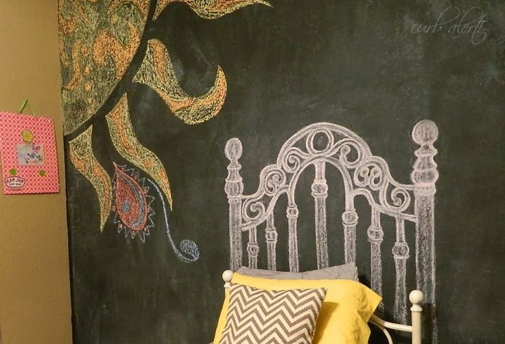 Curb Alert!: Teen Room: DIY Chalkboard Headboard