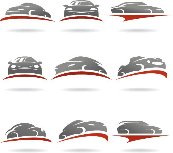 Logos de transporte autos - Vector