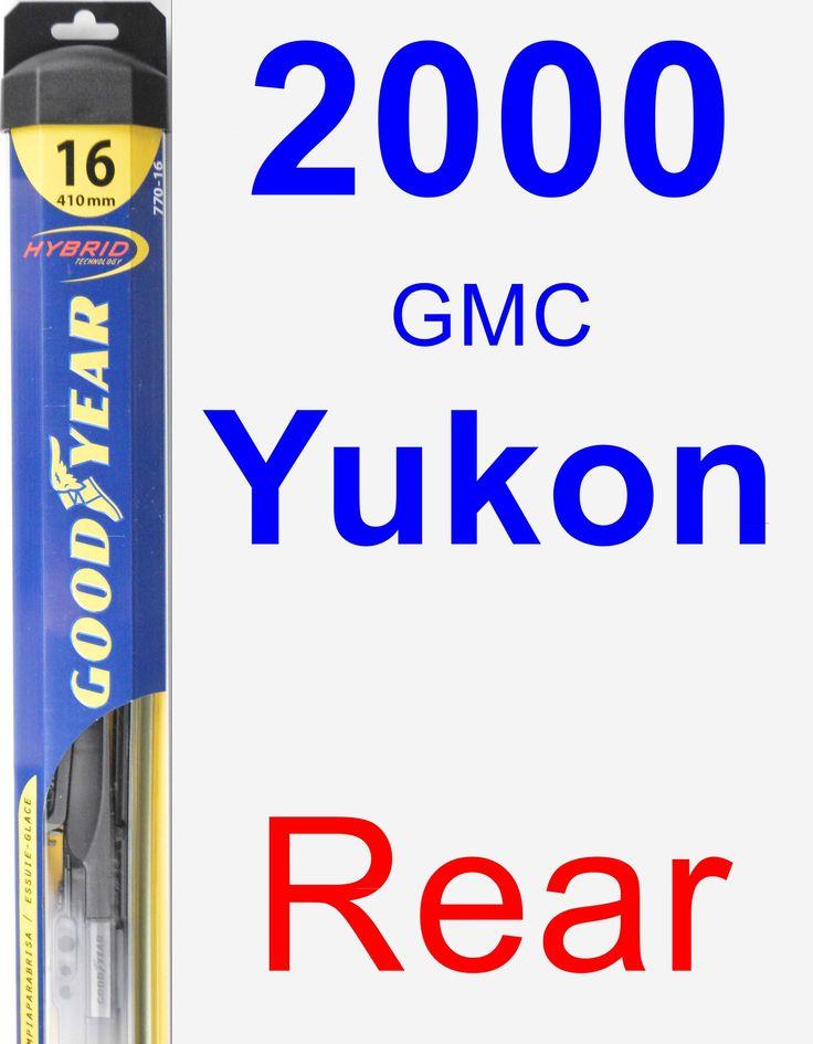 Rear Wiper Blade for 2000 GMC Yukon - Hybrid