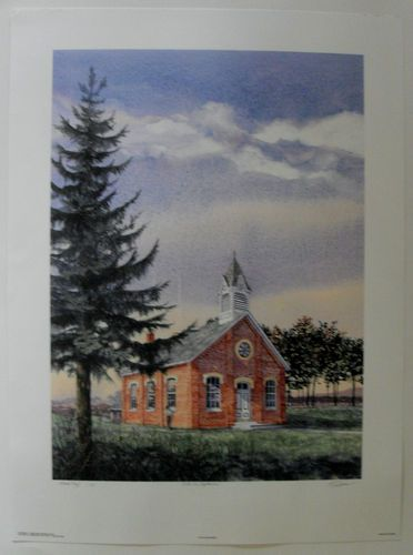 $89.99  Schoolhouse Signed Artist's Proof Print Late IN September BY Mark Rosser | eBay #education #art #walldecor #learn