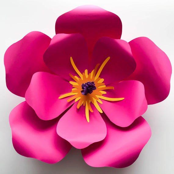Svg Dxf Png Petal 101 Hibiscus Paper Flower Template Diy Cricut