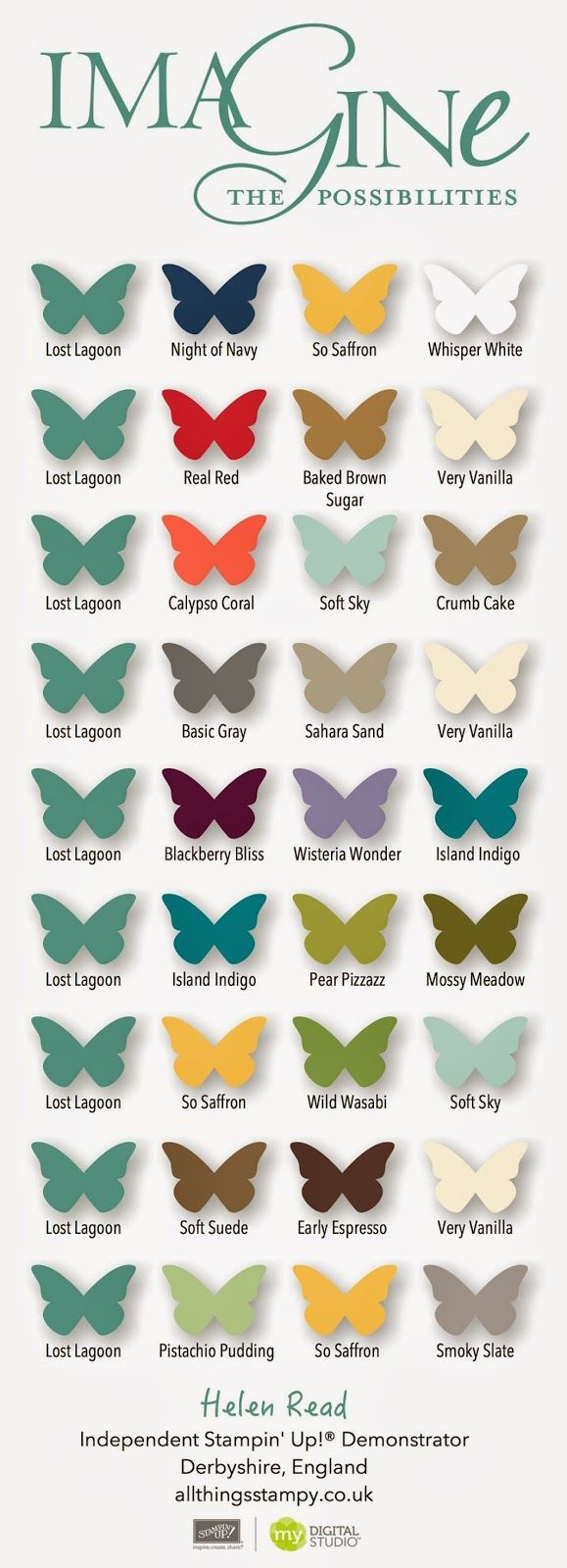 All Things Stampy: What goes with... our new In Colors? Gorgeous, gorgeous Lost Lagoon
