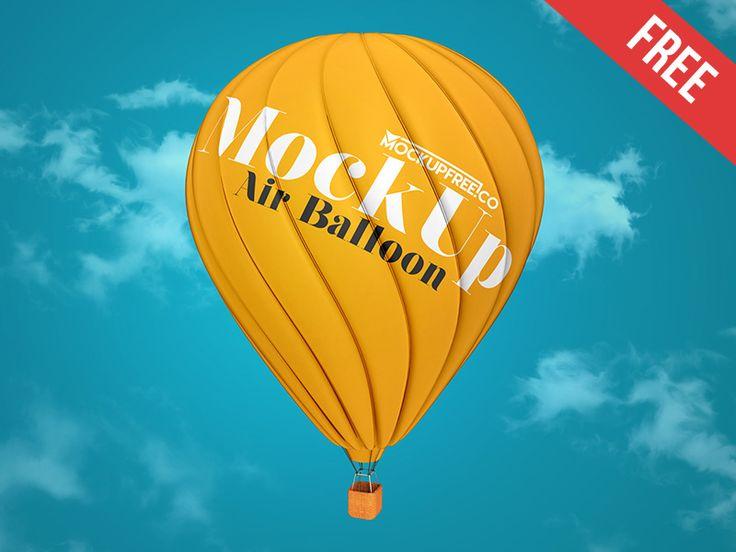 Air Balloon Free Psd Mockup In 2021 Mockup Free Psd Balloons Air Balloon