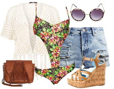 Heb jij voor deze zomer een strand vakantie geboekt!? Dan mag deze outfit absoluut niet ontbreken. Deze feestelijke look is perfect voor een strandfeestje. Mocht je ter verkoeling nog een frisse duik willen nemen, dan is dat met deze outfit geen enkel probleem.