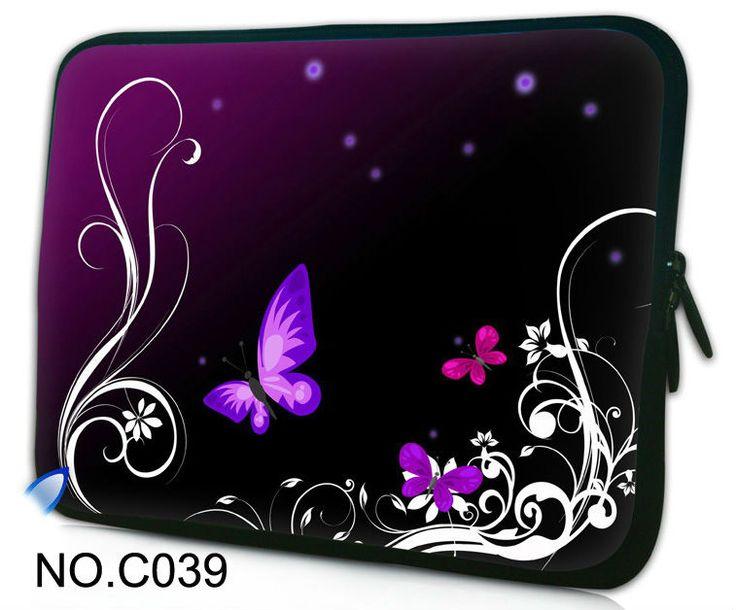 10  10.1  для нетбука чехол сумка для ноутбука Acer Aspire one / iPad 1 2 3-й фиолетовый бабочка