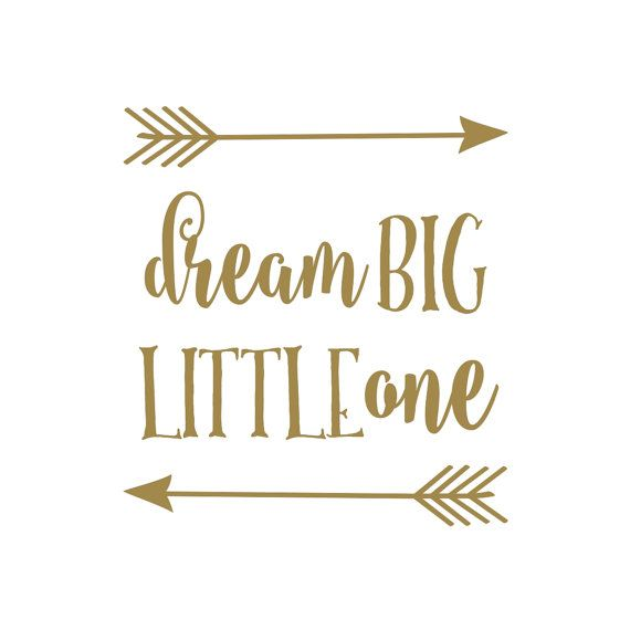 Dream Big Little One is a super cute and trendy vinyl wall decal quote perfect for the aztec or rustic baby nursery. Works for boys and girls