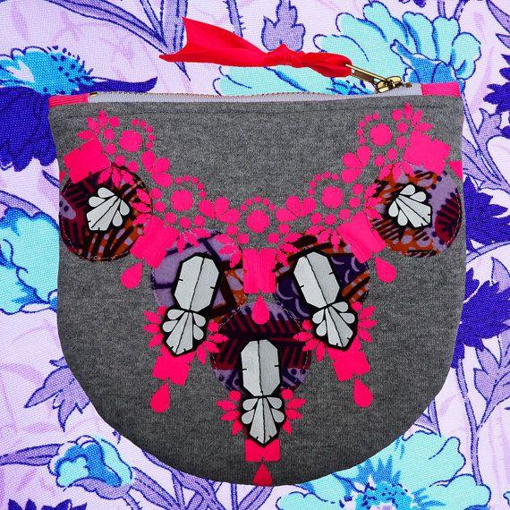 Colourful embellished CLUTCH PURSE with jewel by dAKOTArAEdUST
