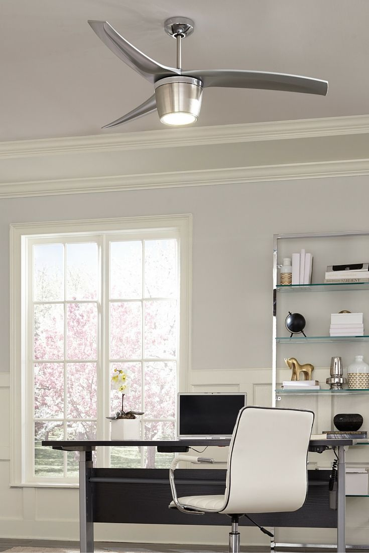 inspired by scissor shears the distinctly modern blades of the skylon ceiling fan by monte - Monte Carlo Ceiling Fans