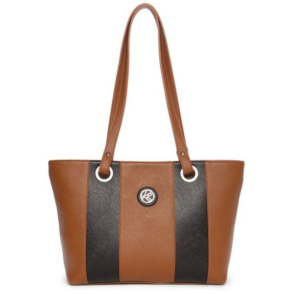 Kim Rogers Tobaccoblack Saffiano Colorblock Tote (2.190 RUB) ❤ liked on Polyvore featuring bags, handbags, tote bags, white tote, white tote handbags, color block tote bag, white tote bag and structured handbags