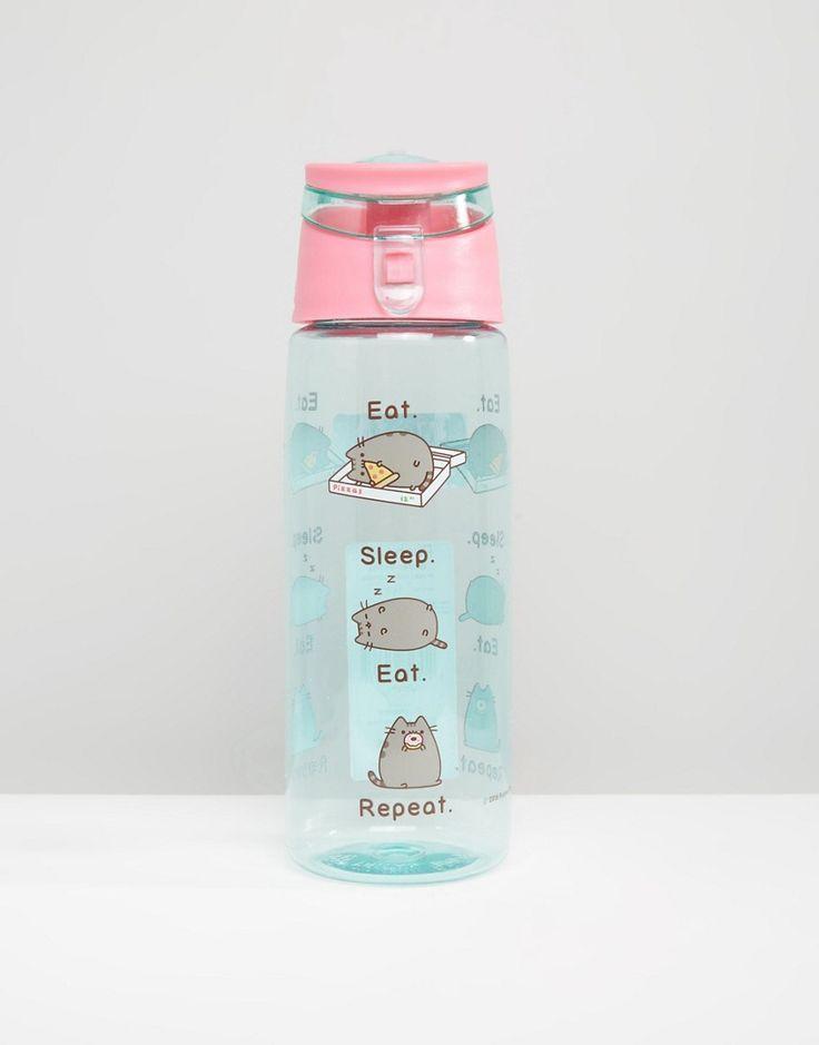 Image 1 of Pusheen Eat Sleep Eat Repeat Water Bottle