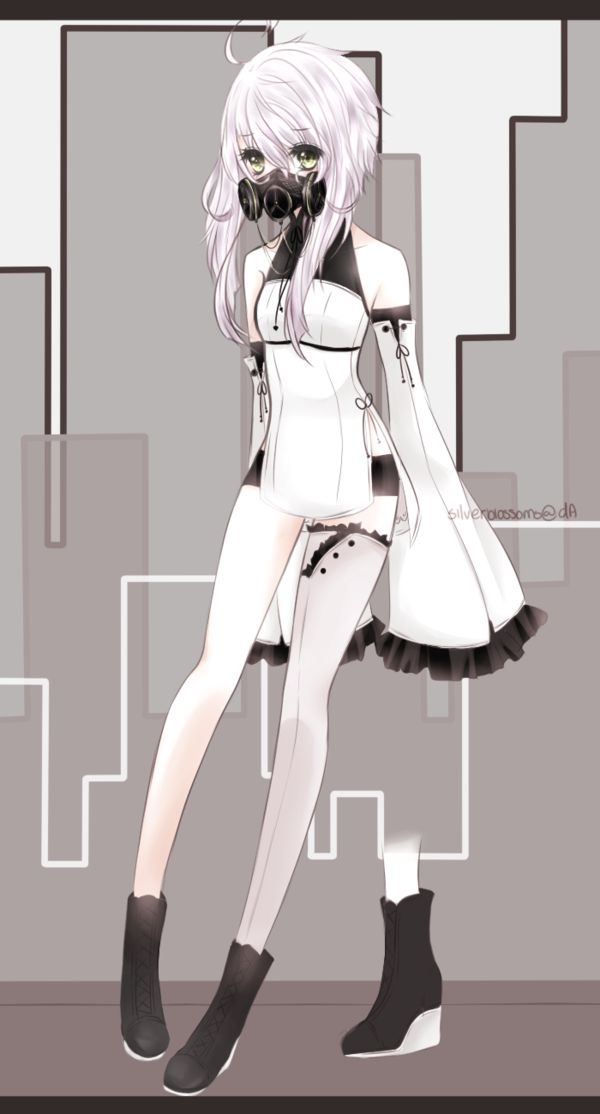 Gas mask by silverblossoms art pinterest masking and - Anime girl with gas mask ...