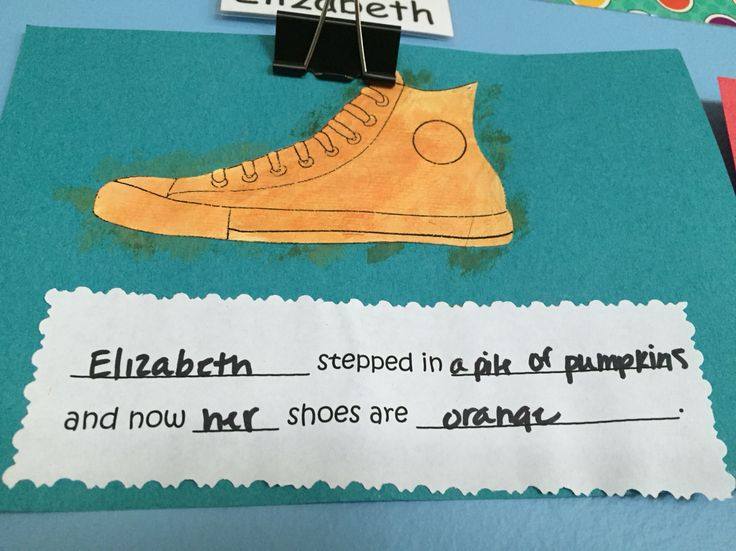Pete the cat I Love my White Shoes activity