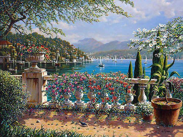 Terrace in Bellagio by Pejman