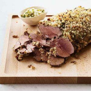 Mustard-Crusted Lamb | Recipe | Lamb, Lunch And Dinner and Salsa