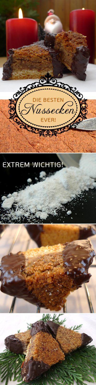 Das köstlichste aller Nussecken Rezepte | Aus meinem Kochtopf https://aus-meinem-kochtopf.de/koestliches-nussecken-rezept/