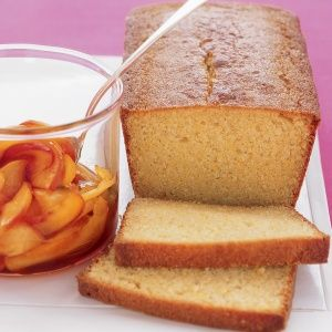 Cornmeal Loaf Cake With Nectarines