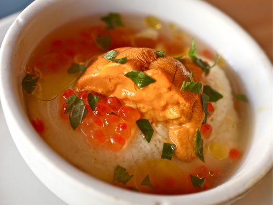Must try this next time I'm in SFO: savory egg custard w/ sea urchin @ Mission Chinese Food.