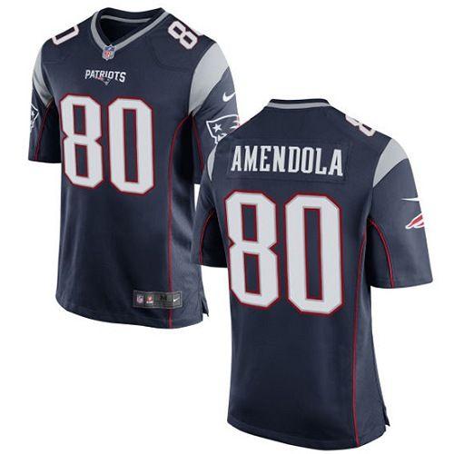 Nike New England Patriots Men's #80 Danny Amendola Game Navy Blue Home NFL Jersey
