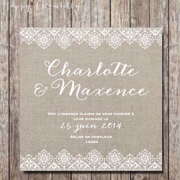 19 best Mod¨les faire part mariage gratuits images on Pinterest