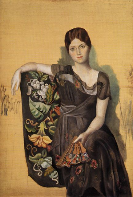 Painting of the Artist's Wife, Madame Olga Picasso (Pablo Picasso)