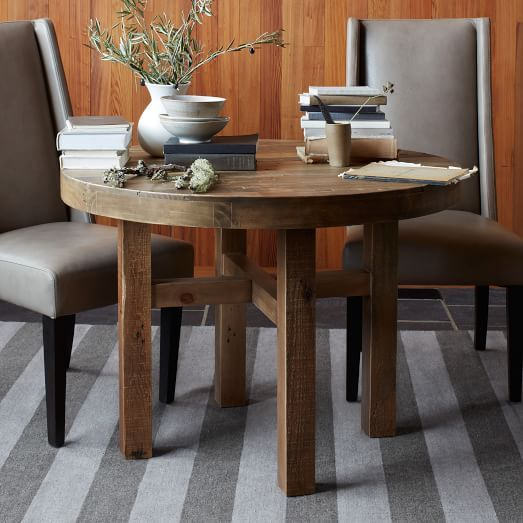 Emmerson Reclaimed Wood Round Dining Table | West Elm