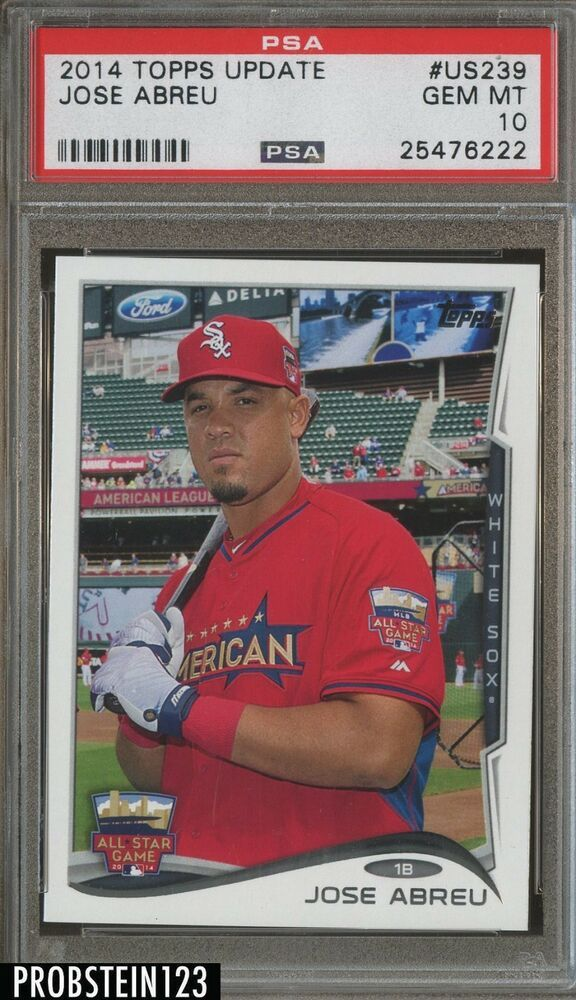 2014 Topps Update Us239 Jose Abreu Chicago White Sox Rc