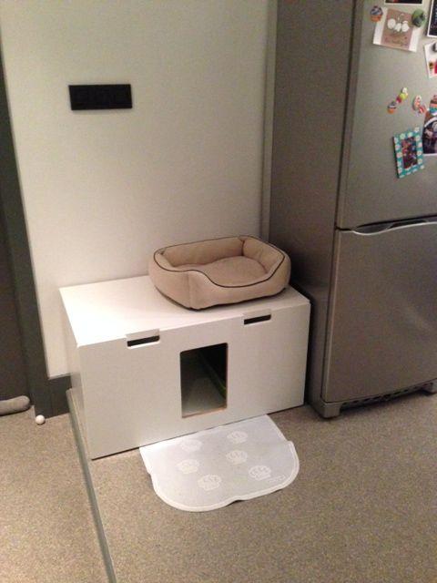 stuva litterbox for 4 kitties ikea hackers ikea hackers pets pinterest storage boxes. Black Bedroom Furniture Sets. Home Design Ideas