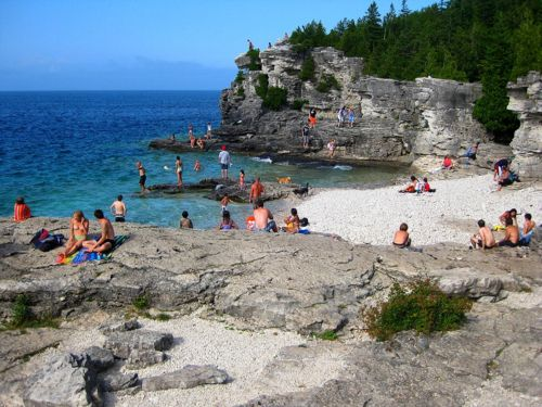 Tobermory in Ontario, Canada
