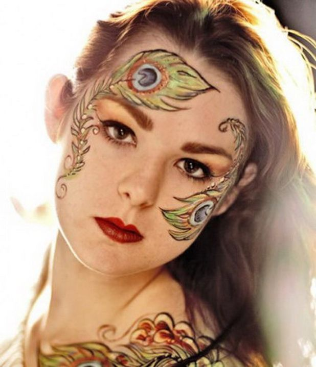 halloween makeup and body art ideas for adults - Female Halloween Face Painting