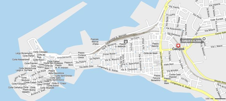 Mappa Gallipoli - Cartina di Gallipoli