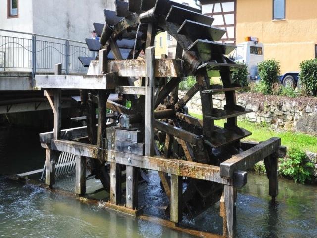 Wasserrad in Ebermannstadt, Germany