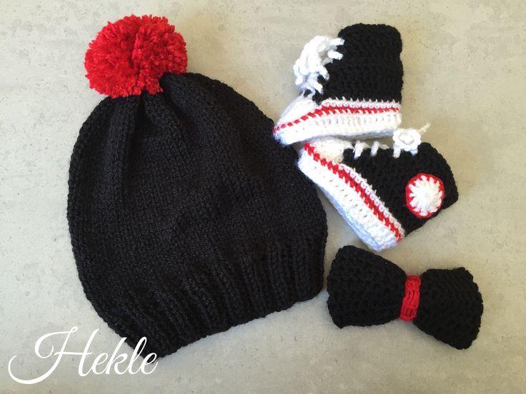 Baby fan  Hekle crochet knitt set Hat boots and bow