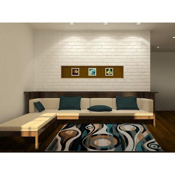 LYKE Home Abstract Dusk Area Rug 5 X 7 Living Room