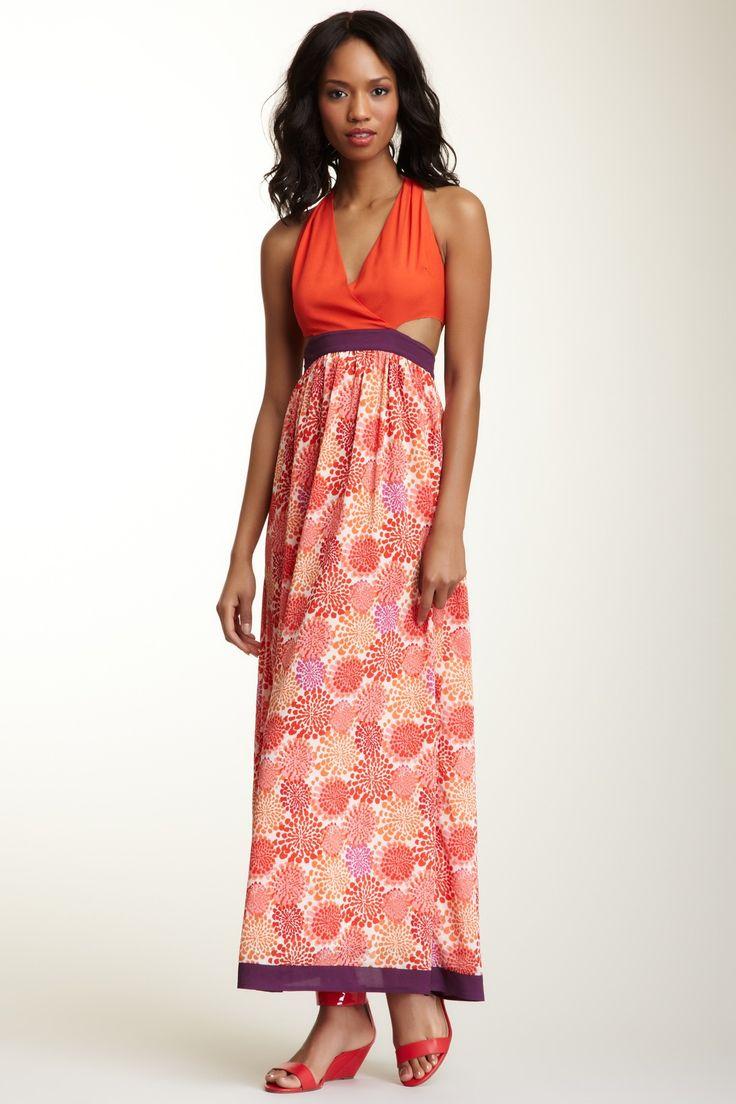 Sugarlips Plastic Flower Maxi Dress on HauteLook