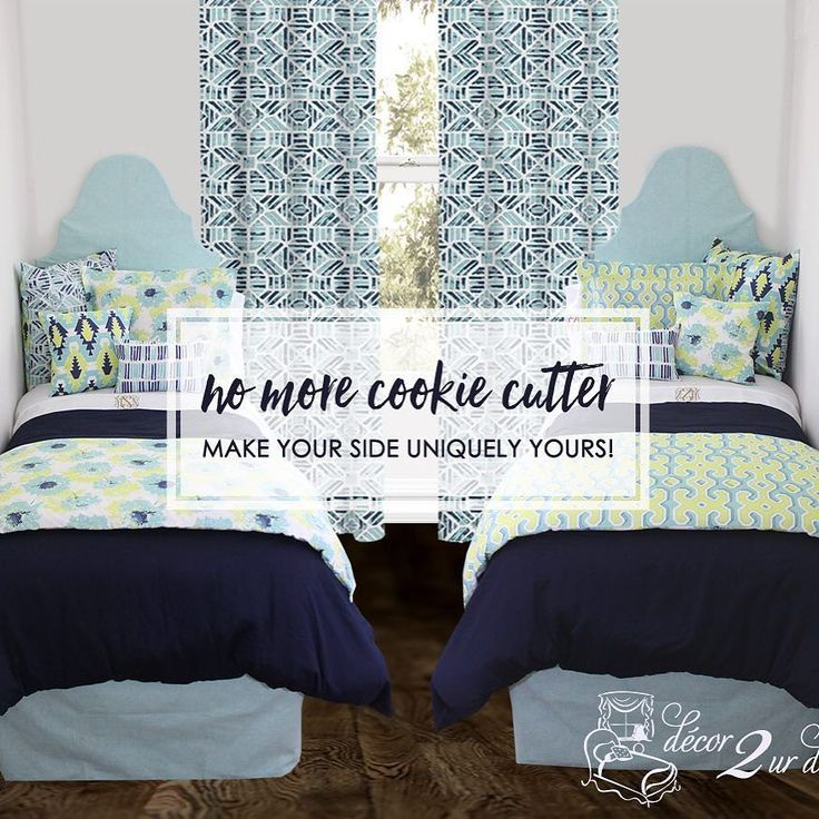 two brand new dorm bedding sets choose the side that fits you best
