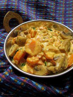 Recepty z Indie: Sampinony s mrkvou na smotane