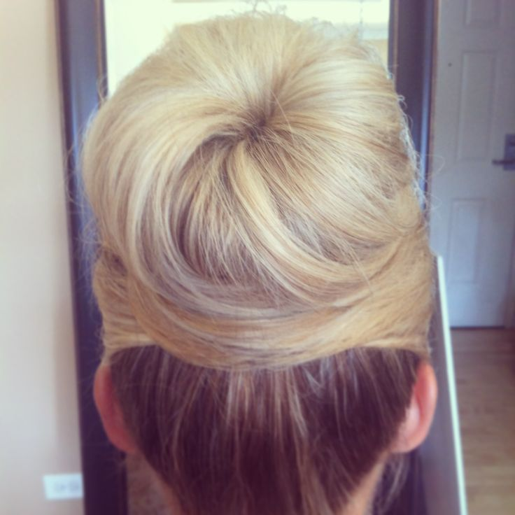 www.chicagostylelust.com high bun with crossed front pieces. Blonde hair style Bridal hair. Wedding hair styles. Wedding updo. Bride or bridesmaid hair. top knot. Audrey Hepburn style.  Party or special occasion hair