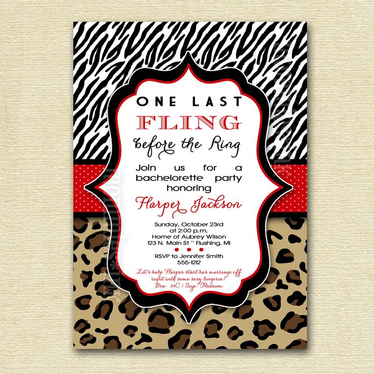 13 best bachelorette party invitations images on Pinterest ...