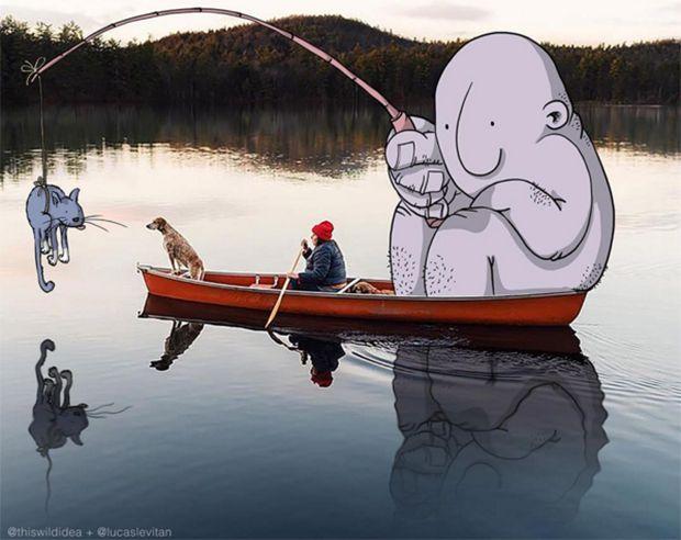Ilustrações divertidas de Lucas Levitan;