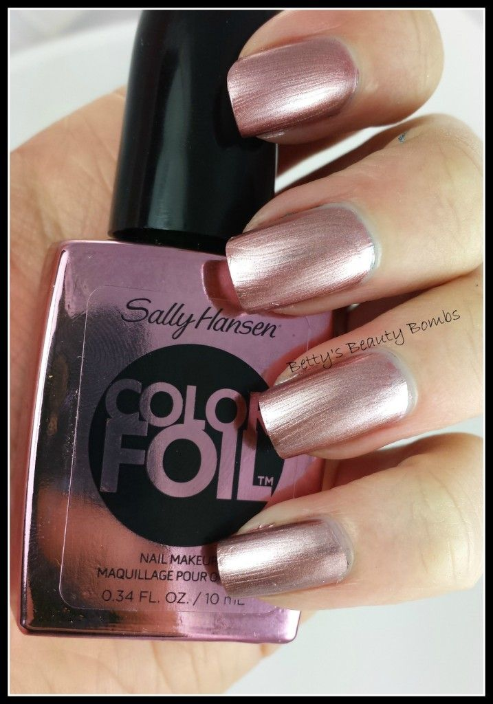 Sally Hansen Color Foil Swatches From The New Metallic Chrome Collection Eight Fabulous And Unique Colors