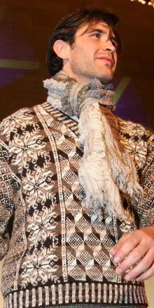 Hand Knit Fair Isle Sweater, Jumper :: Agnes Bowie Fair Isle Knitwear details