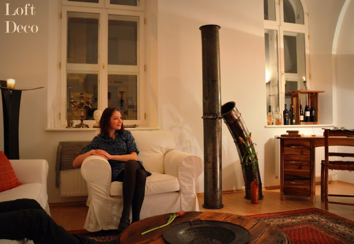 hangulatos este a loftban • loft in the evening