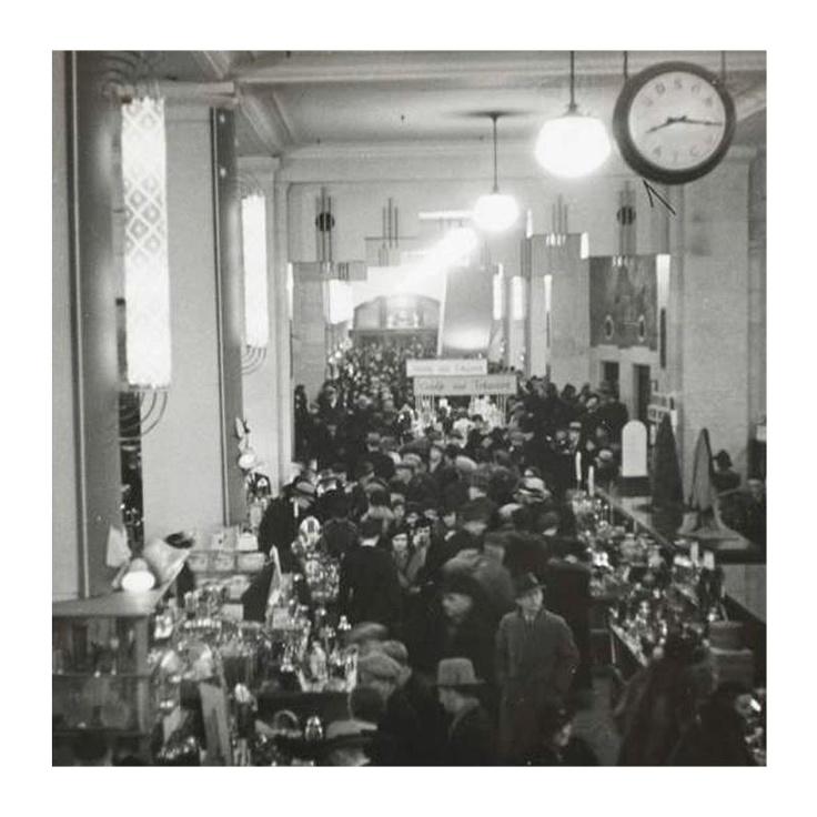 The Hudson Bay Company Department Store, Winnipeg, 1940. (Looks like the Christmas rush to me. ~Renata)