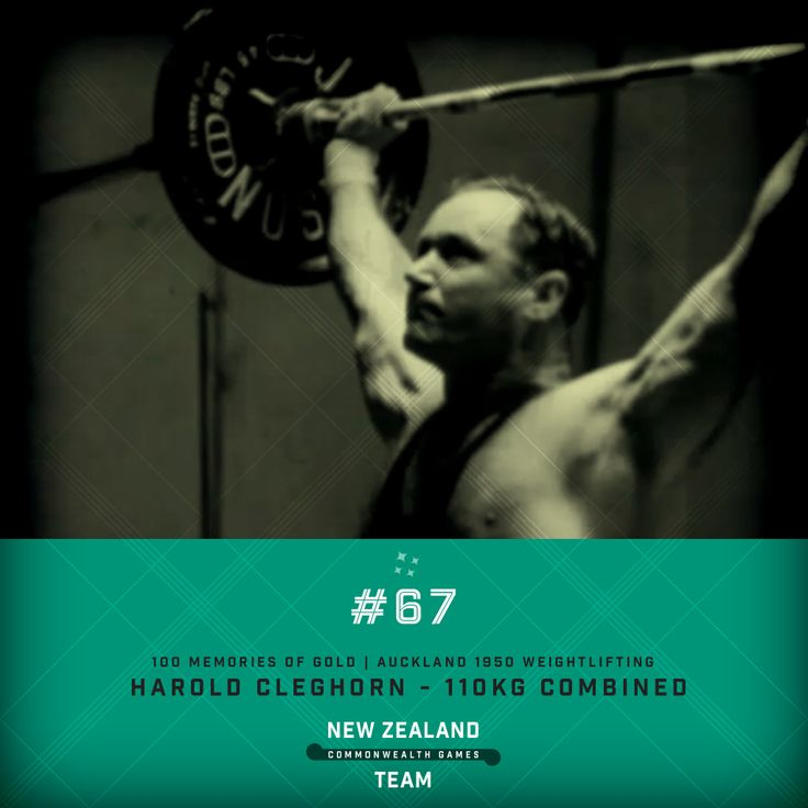 Golden Memory #67. Harold Cleghorn won gold at the 1950 Commonwealth Games in Auckland for weightlifting in the 110kg combined competition. #makingusproud