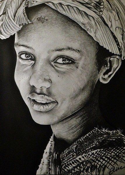 Les 10 meilleures images du tableau dessins portraits d 39 afrique sur pinterest afrique dessins - Dessin africaine ...