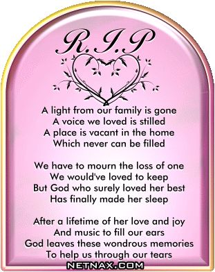Image detail for -Rest In Peace RIP Graphics - Poems For Mom or Grandma | NetNax